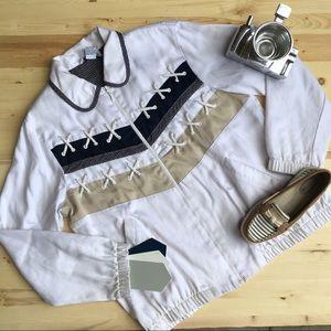 Vintage Nautical Front Zip Jacket